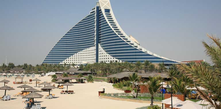 Luxury beach hotel Dubai